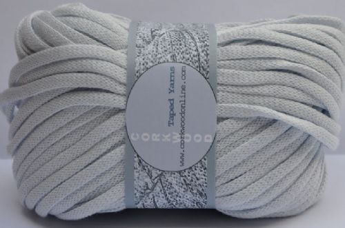Haze blue cotton Chunky Tape yarn 100g Ball